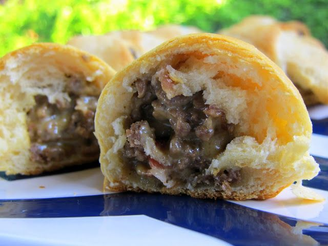 Bacon Cheeseburger Crescents!  Now this looks like some really good football food :)