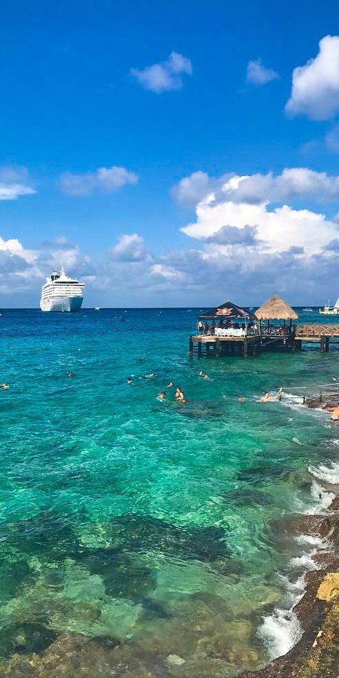 Cozumel, Mexico | Now approaching paradise. Cozumel's crystal-clear waters and dazzling shores define this Caribbean destination. Travel to Cozumel on a Royal Caribbean cruise and enjoy non-stop fun, exciting excursions like dolphin swims, beautiful blue seas, and more. (Photo: crew member Georgia W.)