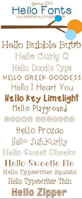 New Hello fonts released 5.5.13 by Hello Literacy.