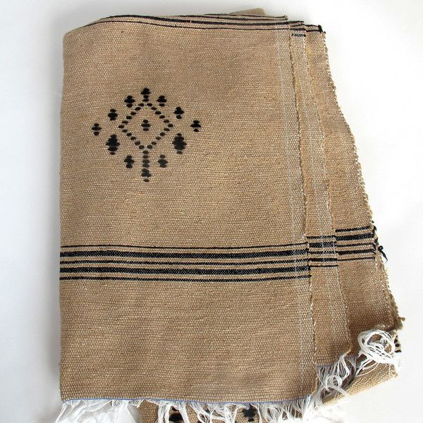 This stunning hand-loomed Berber blanket was made in the souks of Marrakech of 100% cotton. #blanket #throw #globalstyle #textilejunkie #globaltextile #bohemian #HomeDecor