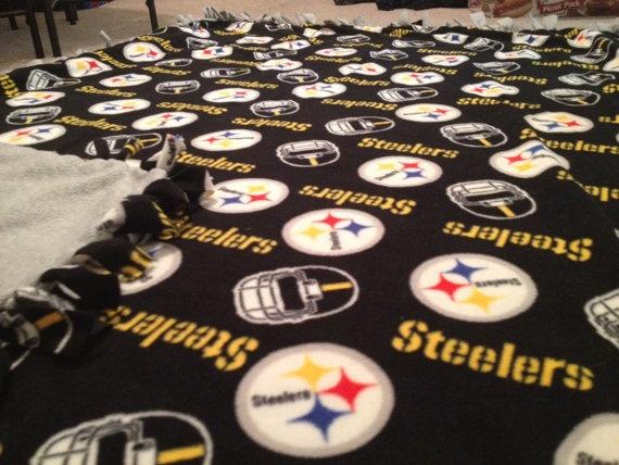 Pittsburgh Steelers Fleece Tie Blanket  No by BlanketsUnlimited, $54.00