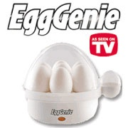 Egg Genie - Best Hard Boiled Egg Cooker Ever.  Peal easy.  Easy to use. On our second cooker.  Will buy another when this one is worn out.