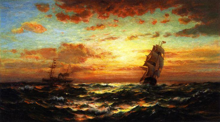 Edward Moran - Sunset Marine,