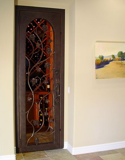 Custom Wrought Iron Wine Cellar Doors | Custom Wine Cellar Doors | Vintage…