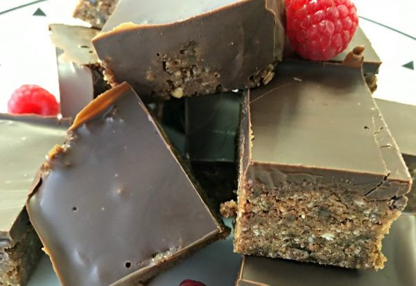 Healthy Chocolate Weetbix Slice