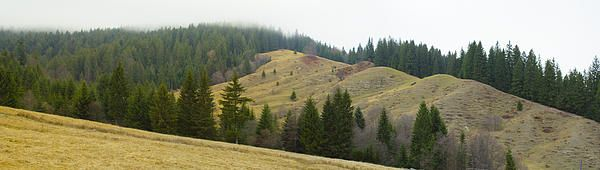 Mountain panorama in november