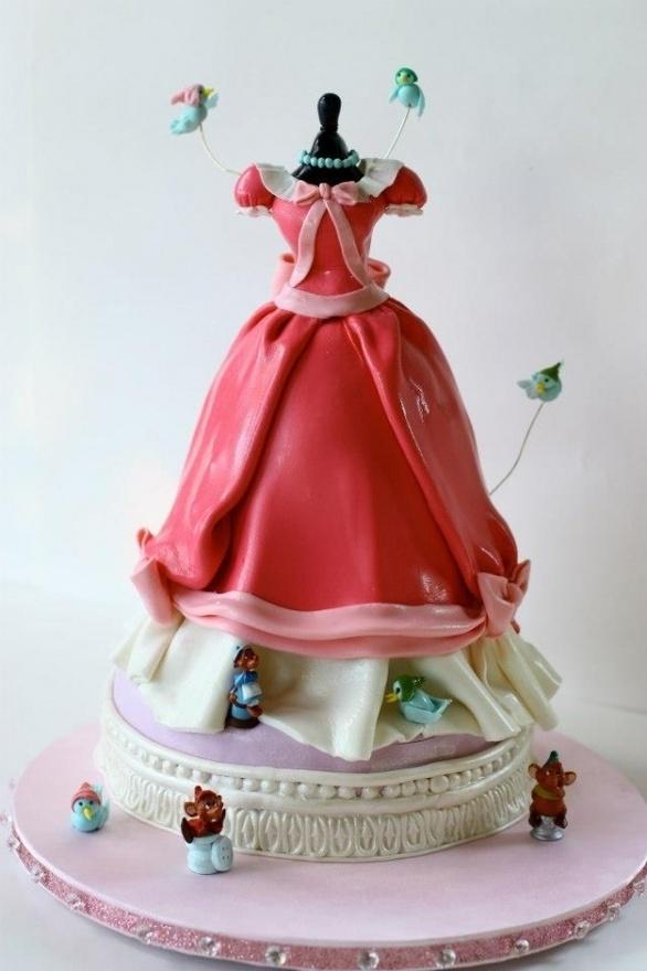 O vestido da Cinderela.: Dress Cake, Sweet, Cinderella Dresses, Cake Ideas, Cinderella Cakes, Disney Cakes, Birthday Cakes