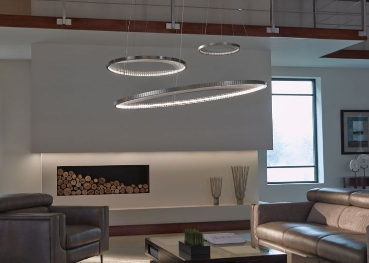 Lbl lighting interlace 1 light led suspension pendant in satin nickel