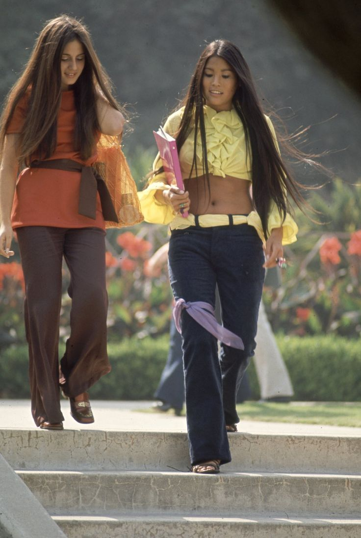 That '60s show: What American high school students dressed like in 1969Southern California high school students wear hippie fashion, in California.