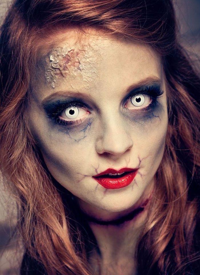 Maquillage zombie \u2013 Une vraie tête de mort(,vivant)