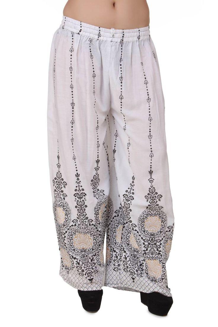 Women's Palazzo Pants Online -  Faux Georgette, Ethnic Wear