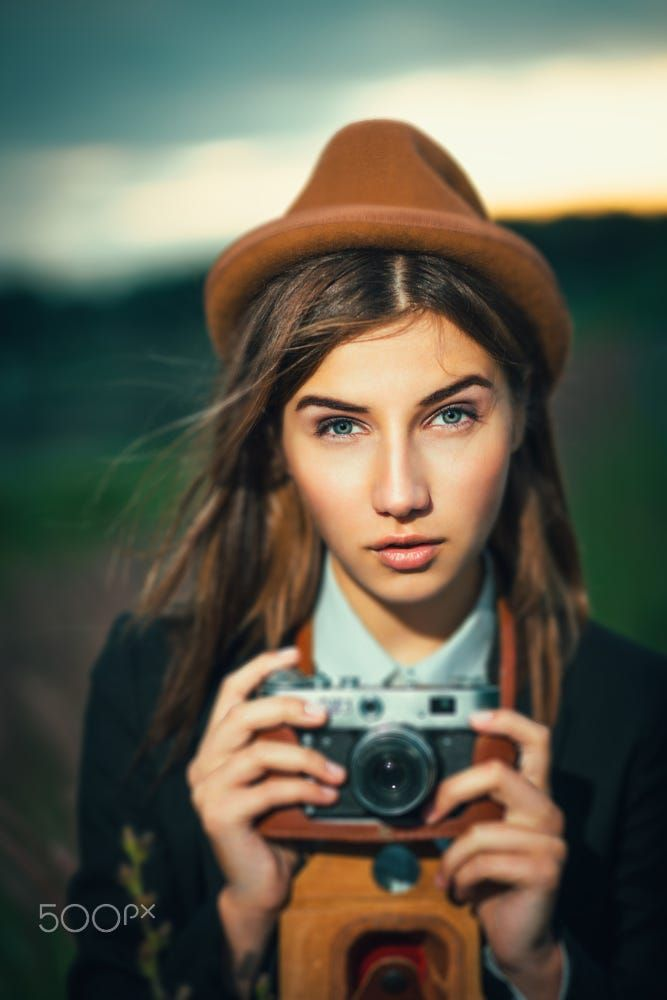 Beautiful hipster girl shooting by Aliaksei Smalenski on 500px