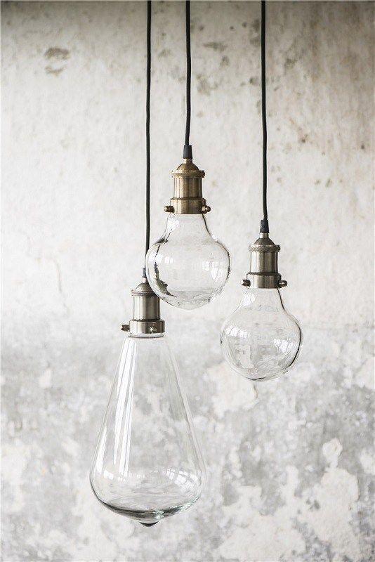 Ib Laursen - Pendel i pæreform - Glas - Loftslamper - Belysning