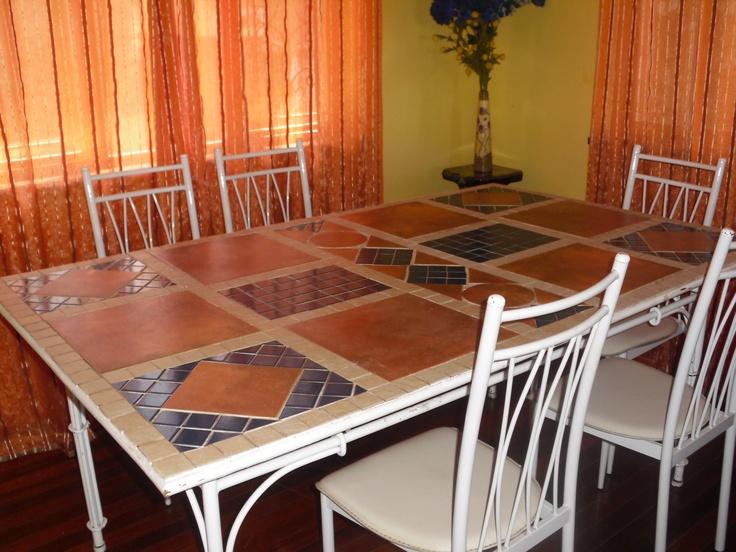 Customised mosaic dining table