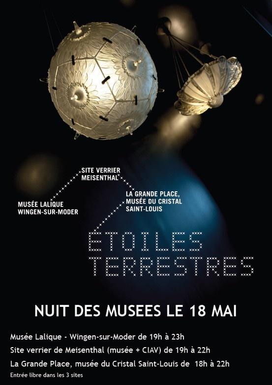 Nuit des musées au musée du Cristal de Saint Louis lès Bitche, au musée du Verre de Meisenthal et au musée Lalique de Wingen-sur-Moder