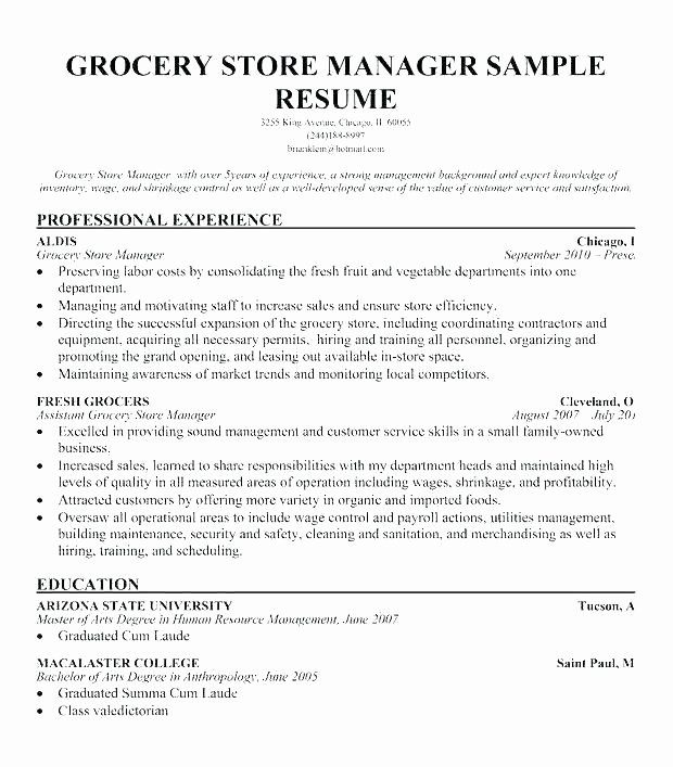 Grocery Store Clerk Resume Unique Sample Resume For Store Clerk Thrifdecorblog In 2020 Job Resume Samples Cashiers Resume Good Resume Examples