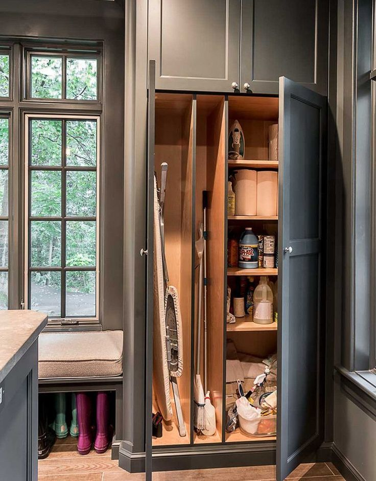 Tips For Build Broom Closet Cabinet | Laundry room ...