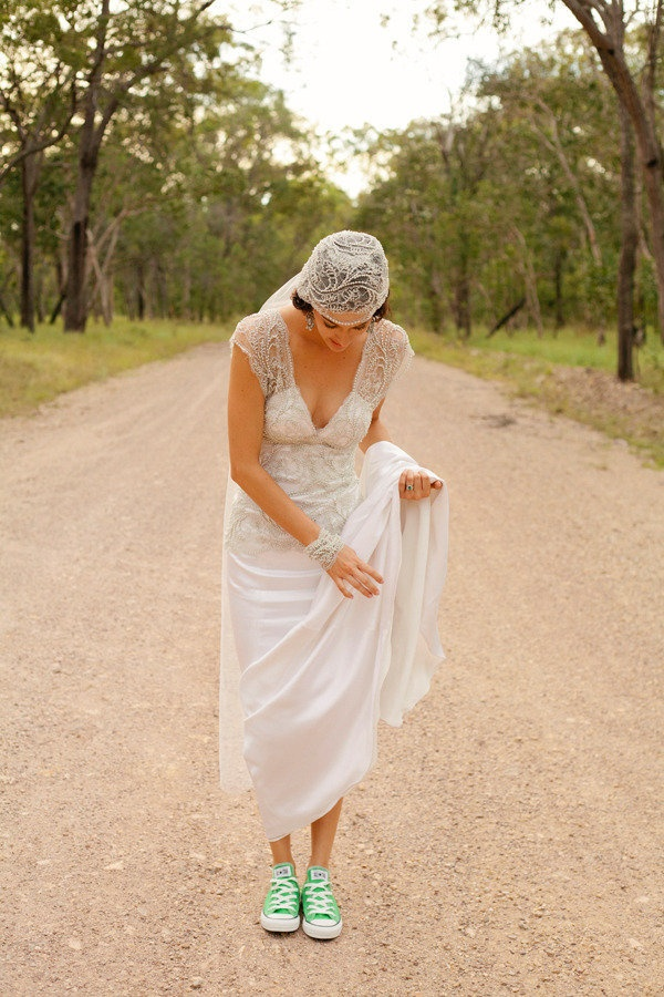 Dress love. Custom by Rosalia of Tendencias + mint Converse sneakers. Photography by marinalockephotography.com.au