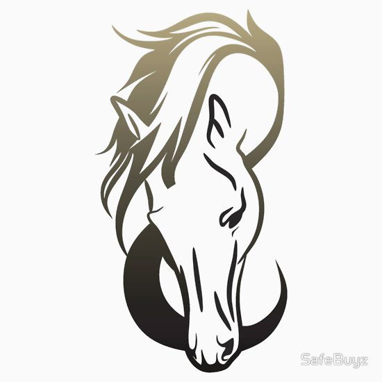 Stylish Horse Head Design in Earthy Tones