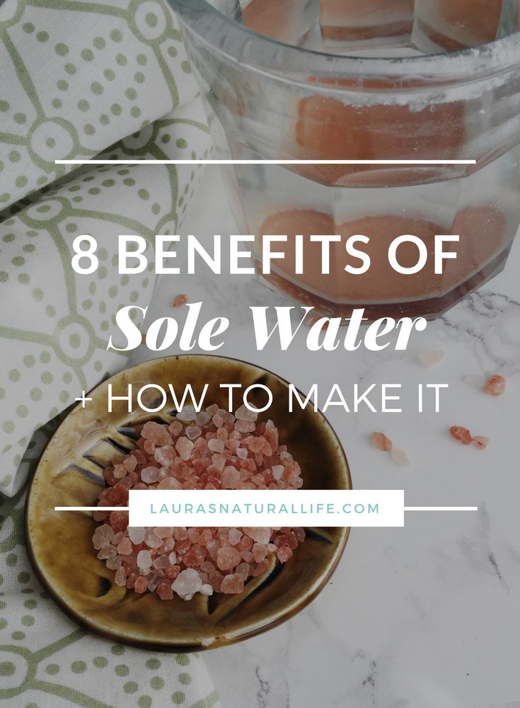 8 Benefits of Drinking Sole & How To Make It — Click through to get your printable guide + recipe. Himalayan Sea Salt Water, Pink Salt Water. Benefits of drinking sea salt.