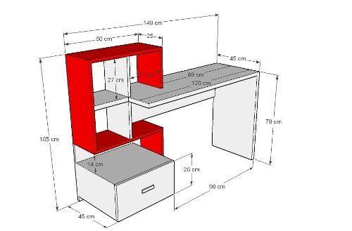 escritorio lacado con estantería y cajón envio gratis