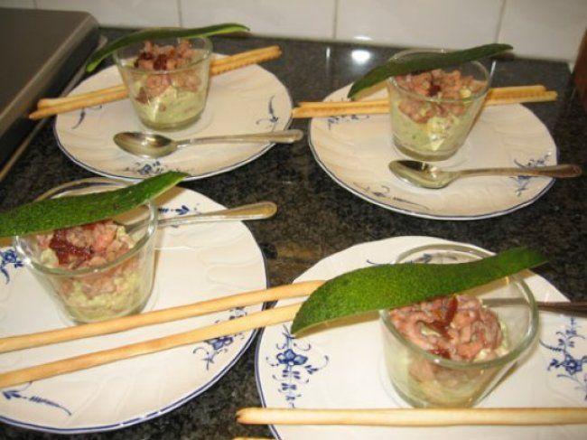 Avocadomousse met garnalen 1