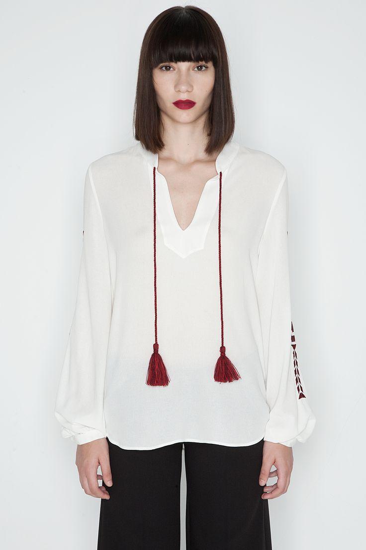 LEFKAS embroidered blouse photo by HARIS FARSARAKIS