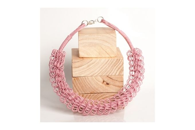 Ring Ring Bling Spiral Necklace Funny Pink by Blossom Handmade on hellopretty.co.za