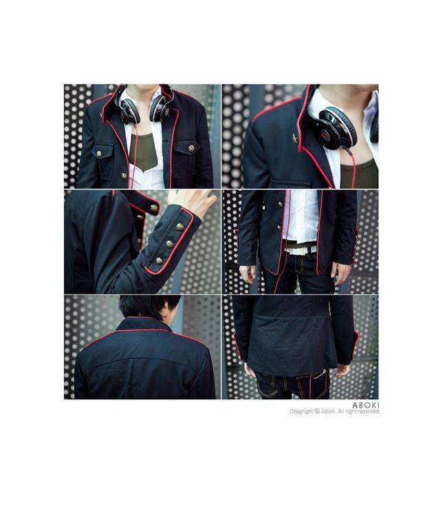 Aliexpress.com: Comprar Juegos del otoño hombres camiseta slim fit cuello alto juego chino túnica, borde rojo uniforme escolar chaqueta prendas de vestir exteriores, envío gratis de prendas de abrigo de las mujeres confiables proveedores de Multicolor store.