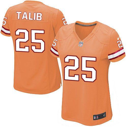 Women Nike Tampa Bay Buccaneers #25 Aqib Talib Limited Orange Glaze Alternate NFL Jersey Sale