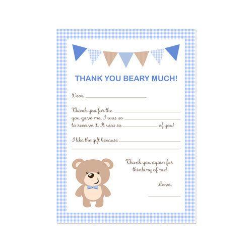 Biglietto di ringraziamento partito Fill-in ragazzo o ragazza orsacchiotto stampabile di DaysignsbyDay su Etsy https://www.etsy.com/it/listing/184027844/biglietto-di-ringraziamento-partito-fill