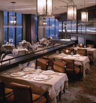 Nana Restaurant in Dallas... on top of the Hilton Anatole.  Best dining experience ever