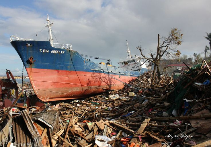 Grounded ship in Tacloban City, Philippines.