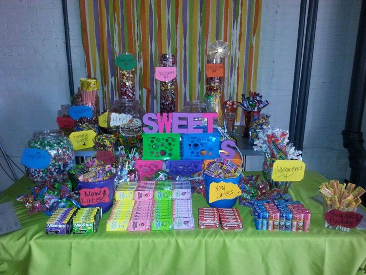 Glow In The Dark Candy Buffet Neon Bright Candy Buff...