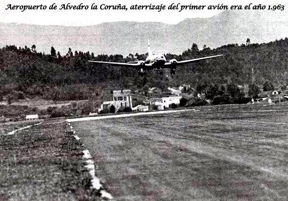 Aterrizaje del primer avión en el Aeropuerto de Alvedro era el año 1.963