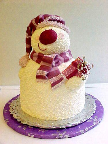Новогодний торт со снеговиком, торт Снеговик, Как приготовить торт Снеговик