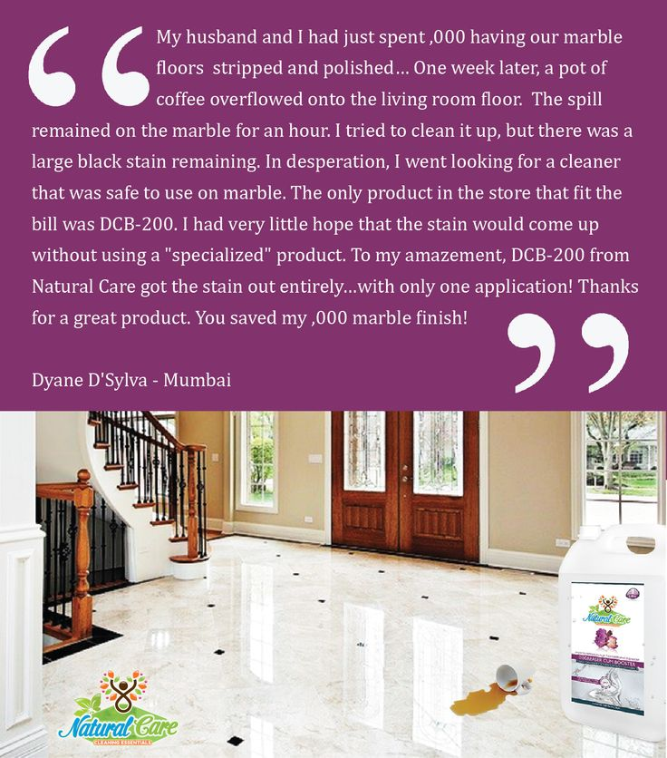 DCB-200 Stain Remover from #Natural #Care Saves #Marble #Floor from #Coffee #Stains