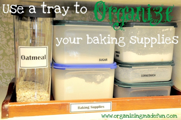 For the love of organizing: Baking supplies