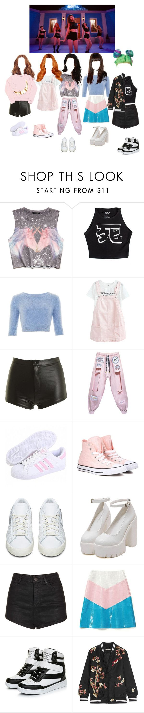 """""""Touch -  TOXIC GIRLS   DANCE  # 2"""" by official-toxicgrils ❤ liked on Polyvore featuring Forever 21, Mishka, Collectif, Converse, adidas Originals, Topshop and Alice + Olivia"""