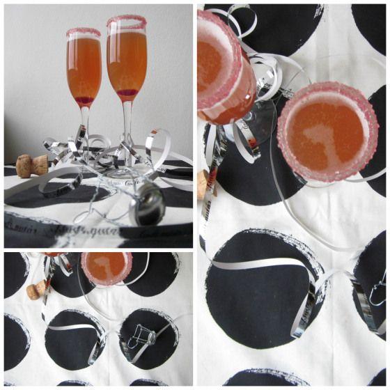 Champagne Cocktail m ingefær & granatæble