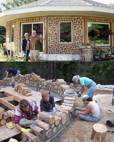 Cordwood Home cool for a fence