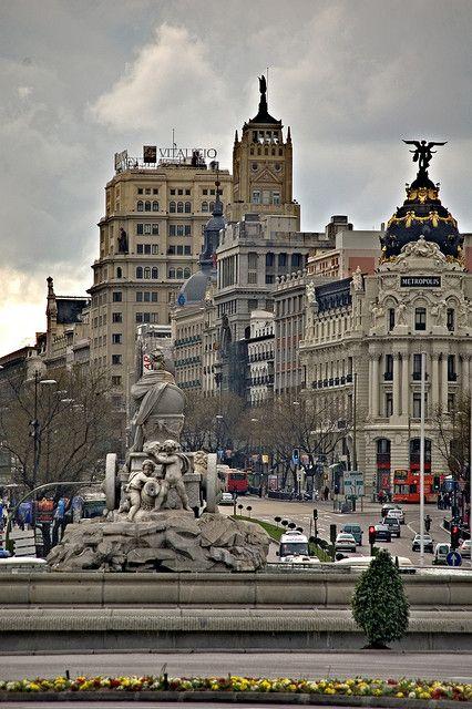 Calle de Alcalá y Plaza de Cibeles