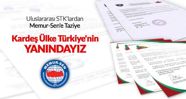 Kardeş Ülke Türkiye'nin yanındayız
