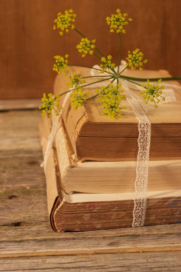 Antique book bundle for vintage wedding decor centerpiece for Antique books for decoration