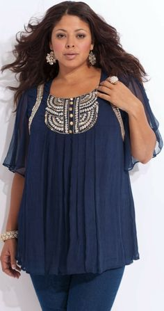 plus size caftan; I love the idea for summer it is very forgiving for those of us with large stomachs