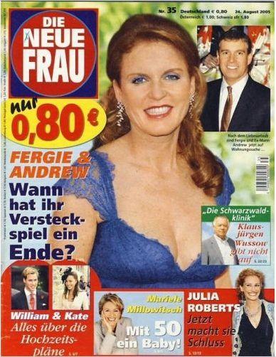 Sarah Ferguson - DIE NEUE FRAU Nr. 35 vom 24. August 2005