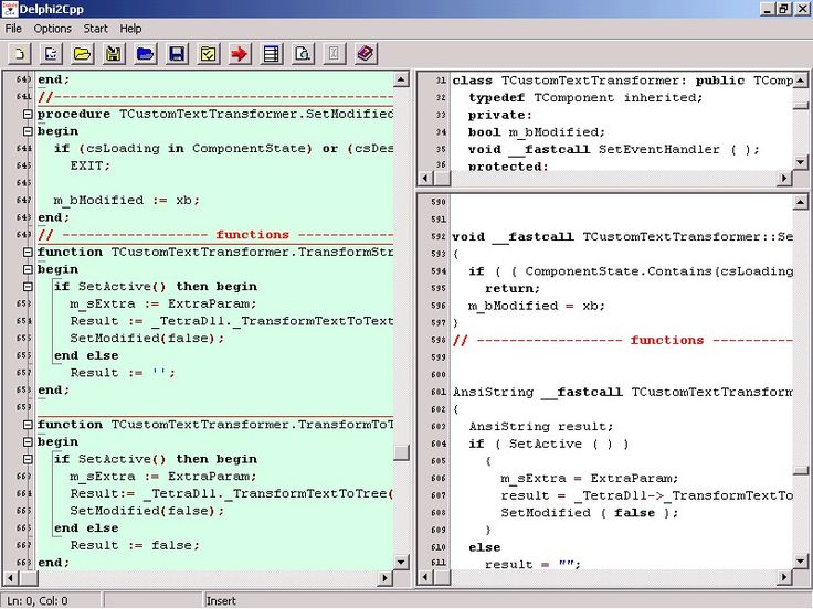 Delphi2Cpp 1.6.3 screenshot