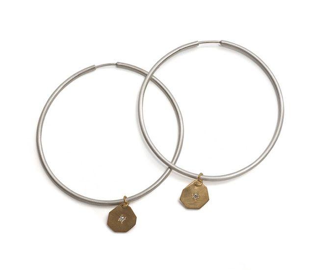 Krista McRae hoop earrings via Pieces of Eight Gallery.