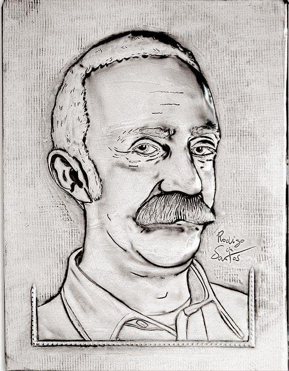 ArteyMetal: Retrato de Santi Rodríguez 3