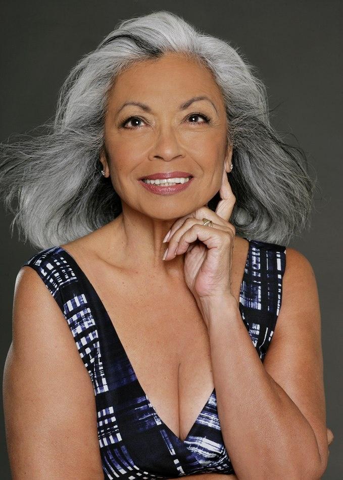 Dolores Devega  Silver Grey Hair, Beautiful Gray Hair -4112